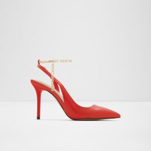 aldo singapore tirarithchain pointed toe ankle strap high heels red 1